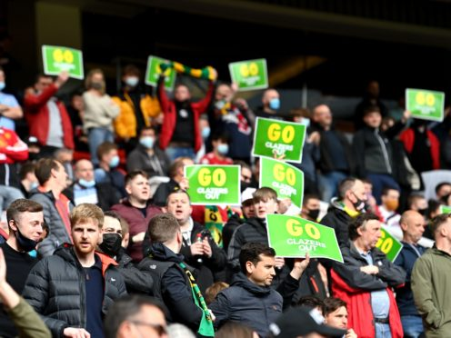 Manchester United fans have been protesting against the Glazers (Paul Ellis/PA)