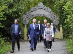 The Prince of Wales during a visit to Slieve Gullion Forest Park in Meigh, Newry. (Mark Marlow/PA)