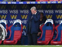 Roy Hodgson oversaw his final game at Selhurst Park (Facundo Arrizabalaga/PA)