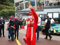 Ferrari driver Charles Leclerc will start the Monaco Grand Prix from pole position (Sebastian Nogier/AP)