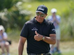 Phil Mickelson takes a one-shot lead into the final round of the US PGA Championship (Matt York/AP)