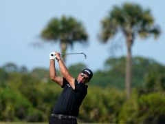 Phil Mickelson took a one-shot lead into the final round of the US PGA Championship (Matt York/AP)