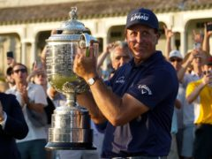 Phil Mickelson said he would 'cherish forever' his extraordinary victory in the US PGA Championship after becoming the oldest major champion in history (Matt York/AP)