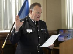 Stephen Watson being sworn in as Chief Constable of Greater Manchester Police (Greater Manchester Police/PA)