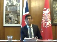 Chancellor Rishi Sunak giving evidence to the Treasury Committee (House of Commons/PA)