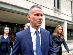 Former Manchester United footballer Ryan Giggs arriving at Manchester Crown Court (Peter Byrne/PA)