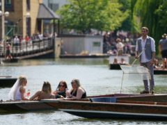 Punters on the River Cam soaking up the sun (Joe Giddens/PA)