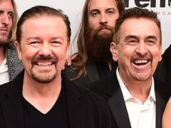 Rick Gervais with Charlie Hanson (Ian West/PA)