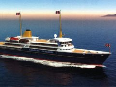 Artist's impression of a new national flagship, the successor to the Royal Yacht Britannia (Downing St/PA)