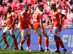 Kenny Dougall, right, scored both goals at Wembley (Zac Goodwin/PA)