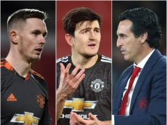 Dean Henderson, Harry Maguire and Unai Emery will all be hoping for Europa League success in Gdansk (PA).