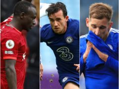 Sadio Mane, left, and Ben Chilwell helped Liverpool and Chelsea into the Champions League as Leicester and Marc Albrighton, right, missed out (Phil Noble/Richard Heathcote/Mike Egerton/PA)