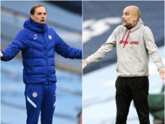 Thomas Tuchel and Pep Guardiola will go head to head in the Champions League final (Shaun Botterill/Martin Rickett/PA).
