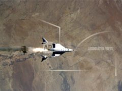 The VSS Unity made a successful flight (Virgin Galactic via AP)
