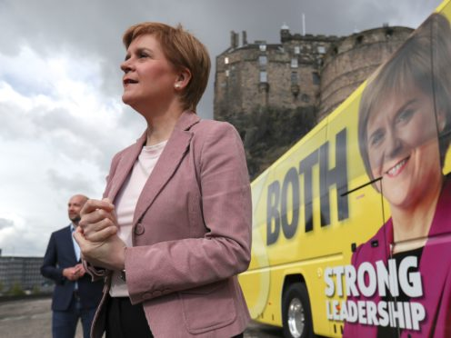 The SNP campaign has focused on Nicola Sturgeon's leadership during the Covid-19 pandemic (Russell Cheyne/PA)