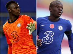 Chelsea keeper Edouard Mendy (left) and midfield N'Golo Kante have trained with teir team-mates ahead of Saturday's Champions League final (John Sibley/Alex Pantling/PA)