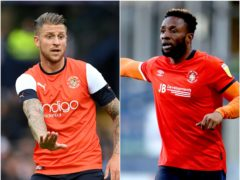George Moncur (left) and Kazenga LuaLua have not been offered new deals by Luton (Joe Giddens/Tim Goode/PA)