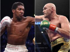 Anthony Joshua, left, and Tyson Fury will go toe-to-toe in August (PA)