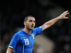 Italy's Leonard Bonucci has been impressed by England (Nigel French/PA)