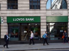 Lloyds Banking Group has announced the closure of 29 Lloyds Bank and 15 Halifax branches across England and Wales (Stefan Rousseau/PA)