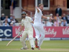 Stuart Broad, right, has had immense success against Ross Taylor in the past (Anthony Devlin/PA)
