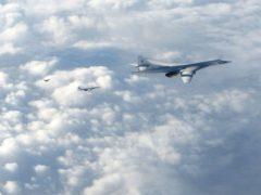 Two Russian Blackjack Tupolev Tu-160 long-range bombers (RAF Lossiemouth/PA)