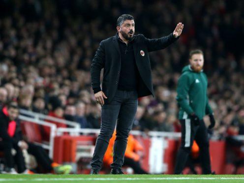 Gennaro Gattuso will not become Tottenham's new head coach (Nigel French/PA)