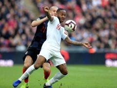 Croatia's Domagoj Vida and England's Raheem Sterling (Mike Egerton/PA)