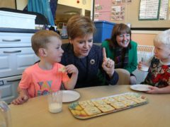 First Minister Nicola Sturgeon has defended the decision to continue restrictions on parents attending nursery graduation events (Andrew Milligan/PA)