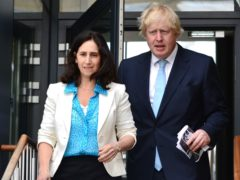 Boris Johnson and Marina Wheeler (Dominic Lipinski/PA)