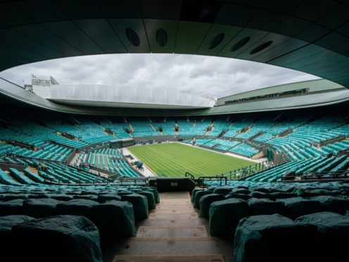 Wimbledon could be one of the major sporting events in England granted exemption from tight capacity limits over the next four weeks (Handout from AELTC/PA)