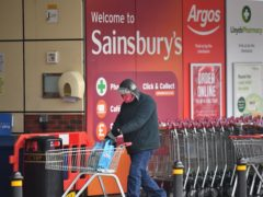 Supermarket sales fell compared with the peak of the pandemic, new figures show (Dominic Lipinski/PA)