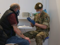 Members of the Armed Forces have been assisting with Covid-19 responses throughout the pandemic (Andrew Milligan/PA)