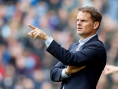 Dutch coach Frank De Boer feels his fluid system can get the best out of the squad (Martin Rickett/PA)