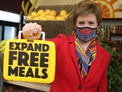 The Scottish Government has announced Primary 4 pupils will be eligible for free school meals from August, followed by Primary 5s in January (Andrew Milligan/PA)