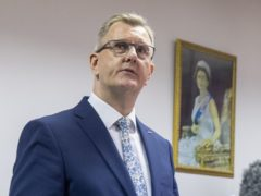 DUP MP for Lagan Valley Sir Jeffrey Donaldson is widely expected to become the next DUP leader (Liam McBurney/PA)