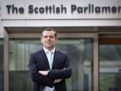 The Tory leader was in Holyrood when he heard the news (Jane Barlow/PA)
