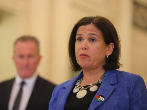 Sinn Fein President Mary Lou McDonald said she was going to see Secretary of State Brandon Lewis as her party and the DUP attempt to avert a fresh political crisis at Stormont (Niall Carson/PA)