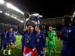 Mateo Kovacic celebrates winning the Champions League with Chelsea (Nick Potts/PA)