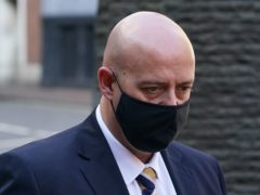 West Mercia Police Constable Benjamin Monk arrives at Birmingham Crown Court where he is accused of the murder of ex footballer Dalian Atkinson in August 2016 (Joe Giddens/PA)