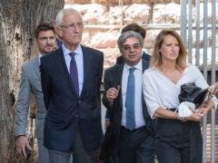 Members of Carlos Ghosn's defence team (AP/Hassan Ammar)