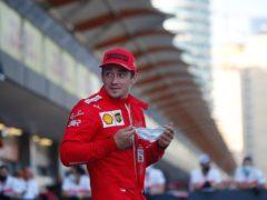 Ferrari driver Charles Leclerc of Monaco smiles after taking pole position (Maxim Shemetov/AP)