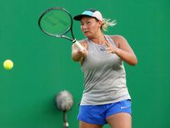 Tara Moore won her first WTA Tour level match since 2016 (Zac Goodwin/PA)