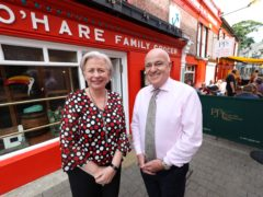 Bernie and Mickey Heaney, the owners of PJ O'Hare's in Carlingford, Co Louth (PA)
