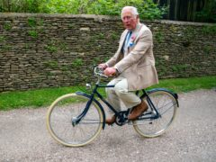 The Prince of Wales launches the British Asian Trust's Palaces On Wheels' charity cycling event (Arthur Edwards/The Sun/PA)