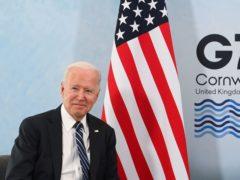 US President Joe Biden (Toby Melville/PA)