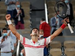 Novak Djokovic (pictured) celebrated after ending the reign of Rafael Nadal (Michel Euler/AP)