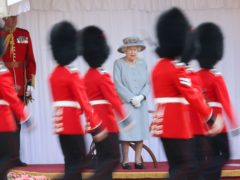 The Queen watches the parade at Windsor Castle (Chris Jackson/PA)