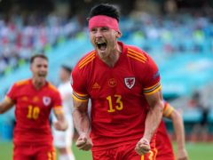 Kieffer Moore scored in Wales' opening Euro 2020 game against Switzerland (Darko Vojinovic/AP)
