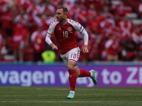 Christian Eriksen may not play again professionally following his reported cardiac arrest, a leading sports cardiologist has said (Wolfgang Rattay/Pool via AP)